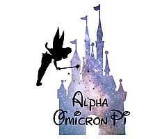 Alpha Omicron Pi Disney Castle Photographic Print