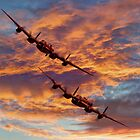 Out Of The Sunset - The 2 Lancasters by Colin J Williams Photography