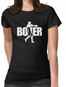 Stylish Boxing Boxer Womens Fitted T-Shirt