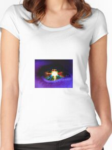 Digital Artwork | Alien Eye | High Contrast Women's Fitted Scoop T-Shirt