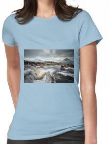 River Etive Falls, Glencoe Womens Fitted T-Shirt