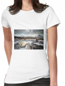 River Etive Falls, Glencoe Womens Fitted T-Shirt