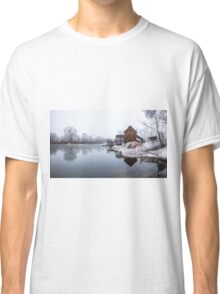 Water mill on the frosted trees in her lap in Jelka Classic T-Shirt