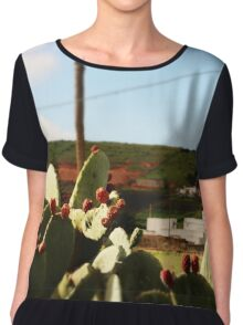 Cactus at dawn Chiffon Top