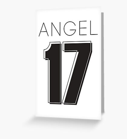 Angel Victoria 17 Text Typography Greeting Card