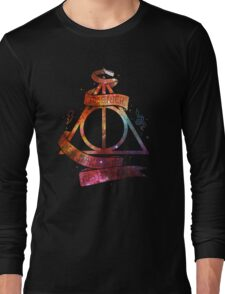 Galaxy deadly hollow harry potter Long Sleeve T-Shirt