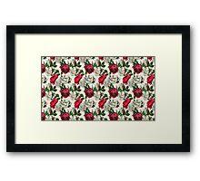 Red & White Roses Framed Print