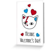 Meowie Valentine Greeting Card