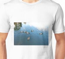 DOWN AT THE LOCAL DUCK POND. Unisex T-Shirt