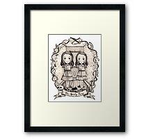 grady twins Framed Print