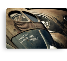 Not an Abandoned Vehicle Canvas Print
