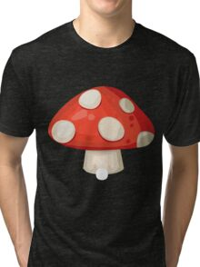 Glitch furniture roomdeco red mushroom Tri-blend T-Shirt