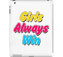 Girls always win iPad Case/Skin