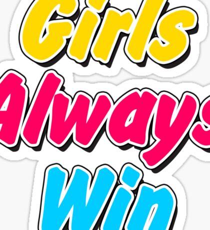 Girls always win Sticker