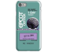 EPCOT Center Ticket Case iPhone Case/Skin