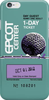 EPCOT Center Ticket Case by plasticflame