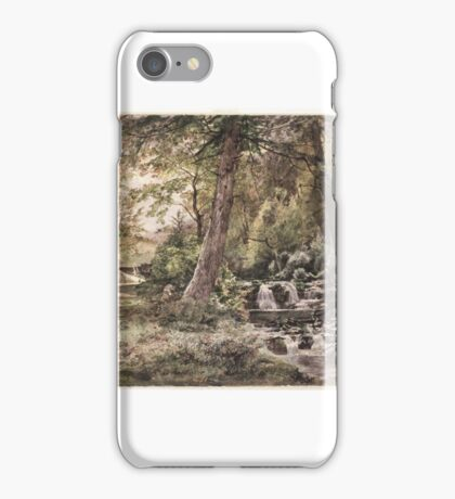 William Trost Richards (American, ). Landscape with Stream and Road, Chester County iPhone Case/Skin