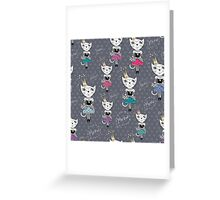 Fashion Cats Greeting Card