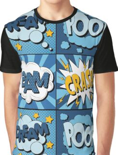 Set of Comics Bubbles in Vintage Style. Expressions Dream, Poof, Bam, Crash Graphic T-Shirt