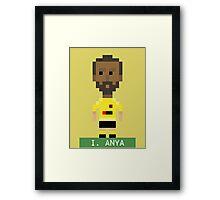 Pixel Hornets: I Anya Framed Print