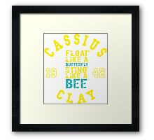 Cassius Clay Muhammad Ali Text Quotes Typography  Framed Print