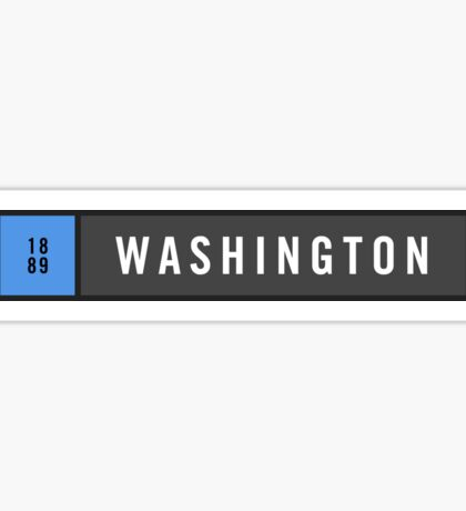 Washington - Minimalist Sticker
