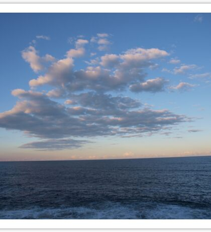 Cloud formation over the sea Sticker