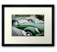 Vintage VW's Framed Print