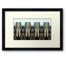 Invisible Viking minnis bay Framed Print