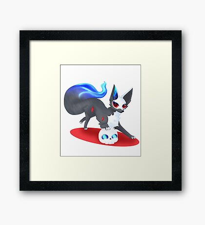 Skull Fox Framed Print