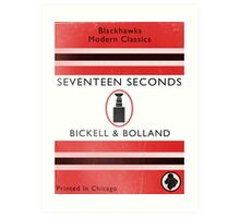 Seventeen Seconds Book Cover Art Print