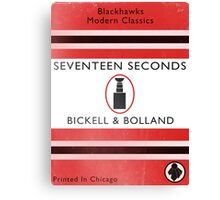 Seventeen Seconds Book Cover Canvas Print