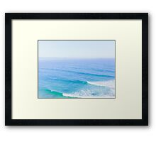 Blue Ocean Waves Framed Print