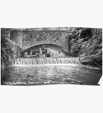 Kearsney Abby Bridge (black and white) Poster