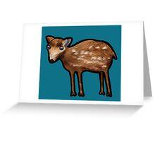 Mouse Deer Greeting Card