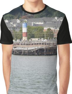 Dilapidated Pier - New York City Graphic T-Shirt