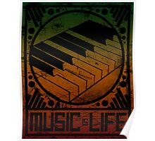 Music is Life: Piano Poster