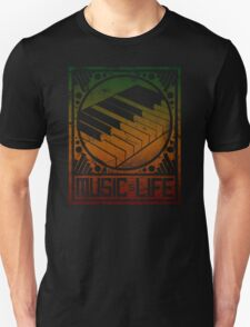 Music is Life: Piano Unisex T-Shirt