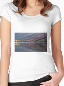 Last light Buttermere Women's Fitted Scoop T-Shirt