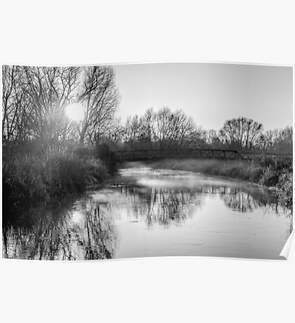 River Stour (black and white) Poster