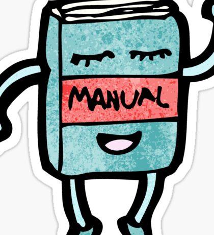 cartoon waving manual book Sticker