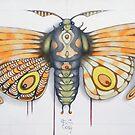 orange moth  (original sold) by federico cortese