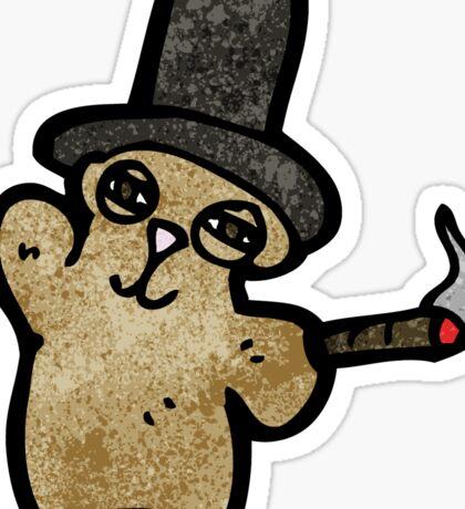 cartoon teddy bear waving Sticker
