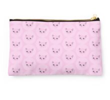 Round meow - pink Studio Pouch
