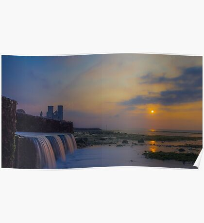 Reculver Towers sunset Poster