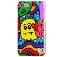 Colorful funny doodle creatures iPhone Case/Skin