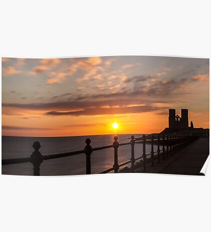 Reculver Towers sunrise 2 Poster