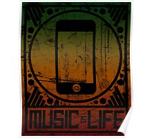 Music is Life: iPod Poster