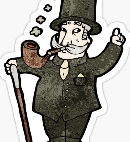 cartoon rich victorian gentleman Sticker