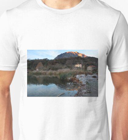Winter on the lake Unisex T-Shirt